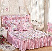 Baumwolle European Style Bed Rock Bettdecke Single Plus Baumwollbett Covers Verdickung Bett Cover 2 Stück Kissenbezug ( farbe : # 1 , größe : 120*200cm )