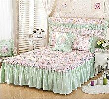 Baumwolle European Style Bed Rock Bettdecke Single Plus Baumwollbett Covers Verdickung Bett Cover 2 Stück Kissenbezug ( farbe : # 6 , größe : 150*200cm )