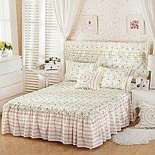 Baumwolle European Style Bed Rock Bettdecke Single Plus Baumwollbett Covers Verdickung Bett Cover 2 Stück Kissenbezug ( farbe : #8 , größe : 180*200cm )