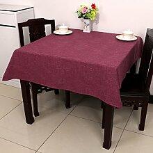 Baumwolle Garten Tischdecke/Leinen Tabelle Tuch Tischdecke/Tee Tischdecke-I 90*90cm(53inchx35inch)