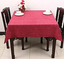 Baumwolle Garten Tischdecke/Leinen Tabelle Tuch Tischdecke/Tee Tischdecke-F 110x110cm(43x43inch)