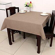 Baumwolle Garten Tischdecke/Leinen Tabelle Tuch Tischdecke/Tee Tischdecke-C 110x110cm(43x43inch)