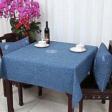 Baumwolle Garten Tischdecke/Leinen Tabelle Tuch Tischdecke/Tee Tischdecke-A 110x110cm(43x43inch)
