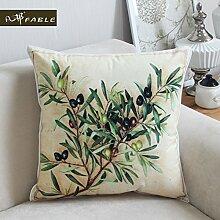 Baumwolle gemalten Europäischen Einrichtungsstil Pflanze Foto Throw Pillow Kissen decken 18
