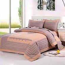 Baumwolle Grobgewebe vierteilige Bettwäsche Bettwäsche Bettwäsche 2.0 / 1.8 Bettwäsche (1 Bettwäsche + 1 Bettdecke + 1 Kissenbezug) , 1 , 2.0m bed