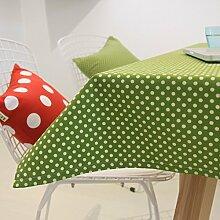 Baumwolle Grün Punkte Retro Gartentisch