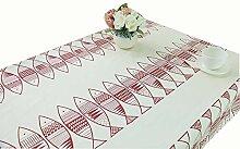 Baumwolle kleine rote Fische Tischdecke Tischdecke