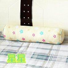 Baumwolle lange Kissen große zylindrische Bett schlafen Lenden Kissen Kissen Freund candy Kissen, 20 x 80 cm demontieren, Sterne