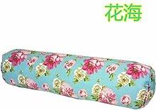 Baumwolle lange Kissen große zylindrische Bett schlafen Lenden Kissen Kissen Freund candy Kissen zu demontieren, 10 X 40 CM, Blumen