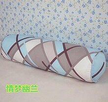 Baumwolle lange Kissen große zylindrische Bett schlafen Lenden Kissen Kissen Freund candy Kissen, 20 x 80 cm, der Traum der Orchideen in zu demontieren