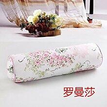 Baumwolle lange Kissen große zylindrische Bett schlafen Lenden Kissen Kissen Freund candy Kissen zu demontieren, 10 X 40 CM, Román Sha