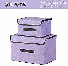 Baumwolle Leinen Aufbewahrungsbox zweiteilige
