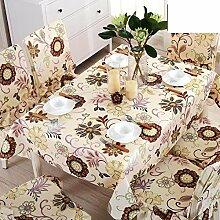 Baumwolle leinen garten tisch tuch tischtuch,home fabric rechteckig american fresh tischtuch-B 130x180cm(51x71inch)