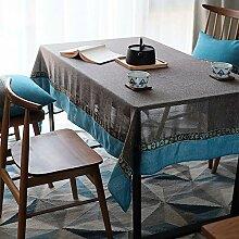 Baumwolle Leinen Rechteck Tischdecke,staubdicht