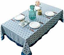 Baumwolle Leinen Tischdecke Amerikanische
