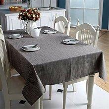 Baumwolle Leinen Tischdecke Einfarbig Hellblau