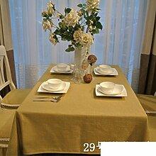 Baumwolle-Leinen Tischdecke/Europäische Garten Tischdecke/ einfach Spitze Tischdecke/ Spitze Tischdecke/Tischdecke decke/Tuch-F 140x210cm(55x83inch)