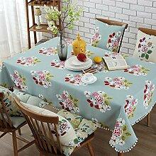 Baumwolle Leinen Tischdecke Europäische Spitze