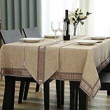 Baumwolle Leinen Tischdecke Rechteckige Haushalt