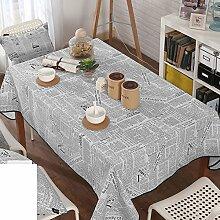 Baumwolle-leinen tischdecke/tee tischdecke/& schwarz-weiß,papier-tischdecke-A 110x160cm(43x63inch)