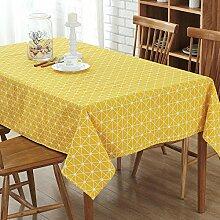 Baumwolle Leinen Tischdeckerechteckige