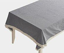Baumwolle leinen tischtuch graue rechteckige tuch möbel-E 150x220cm(59x87inch)