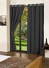 Baumwolle lushomes Blackout Tür- / Fenster festen Öse dekorative drapers Vorhänge - Grösse wählen
