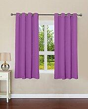 Baumwolle Luxus-Vorhänge blackout feste Tür / Fenster-Öse lushomes drapers - Grösse wählen