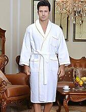Baumwolle Männer und Frauen Normallack Superabsorbent Sweat Dämpfen Kleidung Sauna Kleidung Hotel Bademantel Schnelltrocknend Handtücher Badetuch Nachthemd Bademäntel Schlafanzug Bademantel ( farbe : B , größe : M )