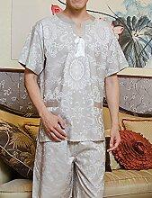 Baumwolle Männer und Frauen Printing Kurzarm Superabsorbent Das Hotel hat Bademäntel Schweißdampf Service Sauna Kleidung Schnell trocknend Handtücher Badetuch Pyjama Bademantel ( farbe : E , größe : S )