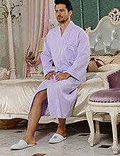 Baumwolle Männer und Frauen Superabsorbent Bademäntel Schweißdampf Service Sauna Kleidung Schnell trocknend Handtücher Badetuch Nachthemd Pyjama Bademantel ( farbe : F , größe : XXL )