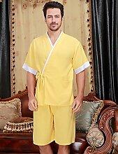 Baumwolle Männer und Frauen Superabsorbent Bademäntel Schweißdampf Service Sauna Kleidung Schnell trocknend Handtücher Badetuch Nachthemd Pyjama Bademantel ( farbe : A , größe : L )