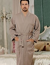 Baumwolle Männer und Frauen Superabsorbent Bademäntel Schweißdampf Service Sauna Kleidung Schnell trocknend Handtücher Badetuch Nachthemd Pyjama Bademantel ( farbe : D , größe : XXL )