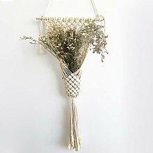 Baumwolle Makramee Wandteppich Pflanze