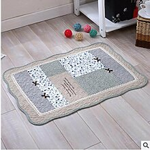 Baumwolle Matten rutschfeste Matten Wohnzimmer Badezimmer Matten 50*70cm g
