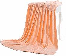 Baumwolle orange Farbe Muster Einzel oder Doppel Einfache und moderne Heimtextilien Wolldecke 200 * 230cm