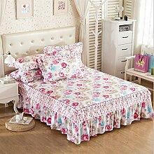 Baumwolle Prinzessin Wind Bed Rock Bettdecke Einzelbett Cotton Bett Covers Bettdecke European Style Sheets 2 Stück Kissenbezug ( farbe : # 3 , größe : 150*200cm )