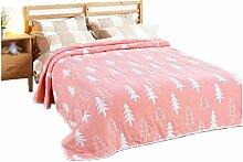 Baumwolle Rosa Muster Einzel oder Doppel Einfache und moderne Heimtextilien Wolldecke 200 * 220cm