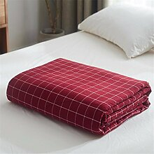 Baumwolle Sommer kühl Quilt Spitze Sommer kühl Steppdecke Oberbett soft Quilt Doppel Garne aus Baumwolle Steppdecke kann Sommer Quilt, Queensize-Bett (200 x 230 cm), M gewaschen werden.