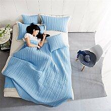 Baumwolle Sommer kühl Quilt Spitze Sommer kühl Steppdecke Oberbett soft Quilt Doppel Garne aus Baumwolle Steppdecke kann gewaschen Sommer Quilt, Queensize-Bett (200 x 230 cm), ein.