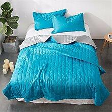 Baumwolle Sommer kühl Quilt Spitze Sommer kühl Steppdecke Oberbett soft Quilt Doppel Garne aus Baumwolle Steppdecke kann Sommer Quilt, Queensize-Bett (200 x 230 cm gewaschen werden),