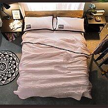 Baumwolle Sommer kühl Quilt Spitze Sommer kühl Steppdecke Oberbett soft Quilt Doppel Garne aus Baumwolle Steppdecke kann gewaschen Sommer Quilt, Queensize-Bett (200 x 230 cm), B