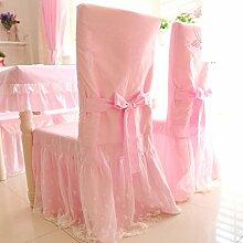 Baumwolle Spitze Sitzbezüge/ Staub Hocker Cover/ Stuhl deckt-rosa