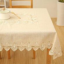Baumwolle Spitze Tischdecke/Teetisch,Tv-schrank Tischdecke-A 95x145cm(37x57inch)