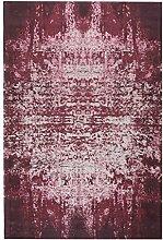 Baumwolle Teppich Cotton Vintage - Farbe wählbar | pflegeleicht | Naturfaser für Fußbodenheizung geeignet | für Wohnzimmer Schlafzimmer Gästezimmer und Kinderzimmer, Farbe:Rot, Größe:160 x 240 cm
