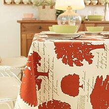 Baumwolle Tischdecke Amerikanische Ländliche Wald/Tabelle Bugaboo-A 120x120cm(47x47inch)
