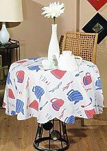 Baumwolle Tischdecke Rund Indische Dekoration Esstisch Zubehör Durchmesser -140 cm