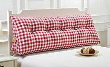 Baumwolle und Leinen Doppelte Dreieck Kissen Nachttisch weiche Tasche Kissen Bett Rückenlehne kann gewaschen und gewaschen werden ( Farbe : A6 , größe : 120cm )