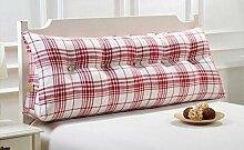 Baumwolle und Leinen Doppelte Dreieck Kissen Nachttisch weiche Tasche Kissen Bett Rückenlehne kann gewaschen und gewaschen werden ( Farbe : A2 , größe : 135cm )