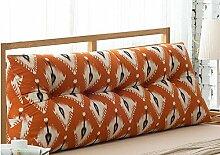 Baumwolle und Leinen Dreieck Kissen Bett Großes Kissen Doppelbett Weichbett Bett Rücken Kissen Kissen Taille ( farbe : B7 , größe : 22*50*60cm )